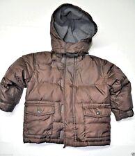 Baby Gap Warmest jacket toddler 3T boy Brown puffed dawn lining zip off hood