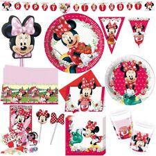 Minnie Mouse Anniversaire D'Enfant Rouge Fraise Kinderpartyset Souris Fête Set