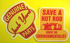 HOT ROD Junk Yard VW Retro vintage Stickers Decals