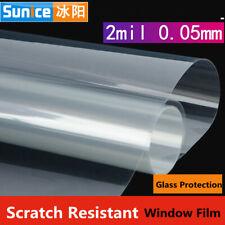 "Window Film Transparent Safety Security Film Shatter-proof Vinyl Film Width:20"""