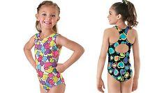 NEW Pastel Bold Fun Bright Vivid Hearts Dance Gymnastics Leotard Child Sizes