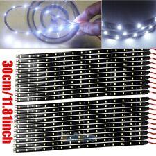 18X White 30CM/15 LED Flexible Truck Car Motor Trunk Light Strip Waterproof 12V
