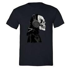 Skeleton Headphones Death Muerta T-shirt Skull Day of Dead Dia Muertos Tshirt