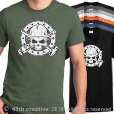 Oil Field Worker Crossbones T Shirt - oilfield rig roughneck skull n bones shirt