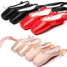 Hard Sole Ballet Shoes for Women Lady Girl Children Flat Pointe Toe Dance Shoes