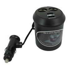 CAR CHARGER CUP HOLDER SOCKET SPLITTER 2-PORT POWEr ADAPTER for SMARTPHONES