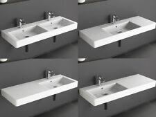 Design Keramik Waschtisch 120 cm Waschbecken Doppelwaschbecken Aqua Bagno