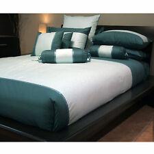 3 Pce Pure Cotton 300TC Petra Green Teal Quilt Doona Duvet Cover Set QUEEN KING