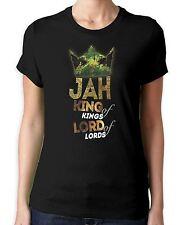 Jah King of Kings Rasta Reggae Women's T-Shirt - Rastafarian Bob Marley