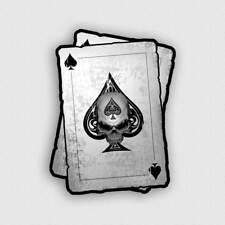 Decal Ace of Spades Skull Biker Window Motorcycle Truck Poker Dead Card Sticker
