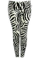 NUEVO Niñas Negro Blanco Estampado de cebra Leggings verano leopardo