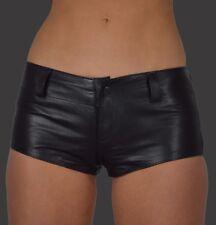 AW-162 Damen Dessous hüften shorts,Hotpants aus lammnapa Leder Mini Shorts Slip