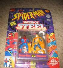 "SPIDERMAN web of steel 3"" act. fig. SPIDEY vs HOBGOBLIN"
