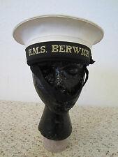 AUTHENTIC WW2 BRITISH NAVAL HAT H.M.S BERWICK