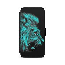 Lion Face Wild Animals Leather Flip Wallet Phone Case