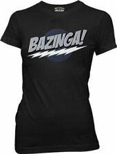Juniors Black Comedy TV Show The Big Bang Theory Bazinga! Sheldon Logo T-shirt