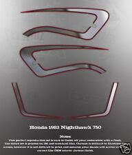 1982 HONDA NIGHTHAWK CB750 SIDE COVER TANK DECAL SET