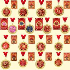 Medaille in Geschenk Karte Geburtstag Party Рождения Юбилей russisch Медаль
