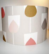 Scion Sula Flamingo/Honey/Linen Drum Fabric Lampshade (15 20 25 30 35 40cm)