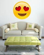Love Heart Eyes Self Adhesive Emoji Gloss Sealed Graphic Wall Decal Sticker