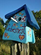 ORIGINAL die VOGELVILLA Vogelhaus Nistkasten NISTMINI LIEBESNEST blau Gartendeko