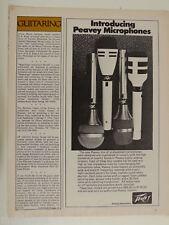 retro magazine advert 1974 PEAVEY microphones