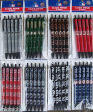 MLB Team Click Pens - 5 pack - ( All Teams ) Black Ink Official Licensed
