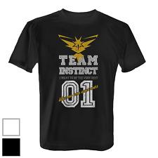 Team Instinct Herren T-Shirt Fun Shirt Poke Go Game Intuition Gelb Vintage Style