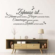 Wandtattoo Wandsticker Wandaufkleber Wohnzimmer Zuhause ist Familie Liebe WT120