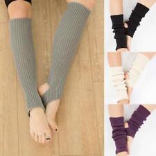 Women Boot Cover Leg Warmers Knitted Ballet Yoga Dance Knee Long Legging Sock LC
