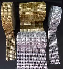 8  / 24 Row Gold Silver Sparkle Rhinestone Wedding Decoration Ribbon