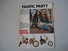 advertising Pubblicità 1974 FANTIC TI/CHOPPER/ROCKET