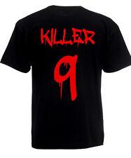 T-SHIRT UOMO KILLER + numero personalizzato sul retro SANGUE HORROR  MAGLIETTA