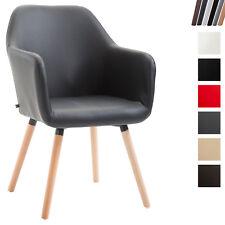 Chaise de Salle à Manger PICARDV2 Similicuir Pieds Bois Chaise Design Scandinave