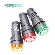 12V/24V/110V/220V AD16-22SM LED Flash Alarm Indicator Signal Light with Buzzer