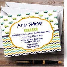 Los niños del tren y cheurones Personalizados Infantiles Fiesta De Cumpleaños Invitaciones