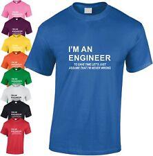 I'm Un Ingénieur Enfants T-Shirt Maniaque Cool Kids Clever Geek