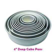 "PME Cake Pans ROUND Baking Tins 4"" - 16"" Diameter Professional Quality - 4"" DEEP"