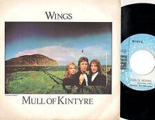 WINGS PAUL McCARTNEY disco 45 giri ITALY Mull of Kintyre BEATLES stampa ITALIANA