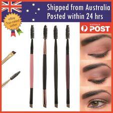 New Duo Make up Brush Eyebrow Eye Brow Shaping Double Sided Flat Angled Brushes