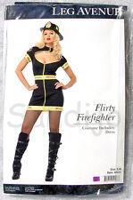 Adult Women's Black FLIRTY FIREFIGHTER Costume! Sizes S/M, M/L, XL