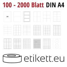 Klebeetiketten DIN A4 weiß in verschieden Größen (Laser,Inkjet,Kopierer)