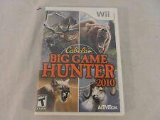 Nintendo Wii Cabela's Big Game Hunter 2010 Rated T For Teen Blood Violence 31472