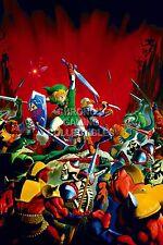 RGC Huge Poster - Legend of Zelda Ocarina of Time 3D N64 Nintendo 3DS - ZELO02
