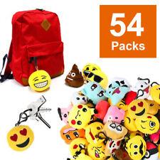 "US 54pcs Emoji Poop Pokemon 2"" Mini Pillow Keychain Stuffed High Quality Plush"