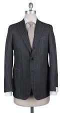 New $4500 Borrelli Gray Wool Striped Suit - (201803086)