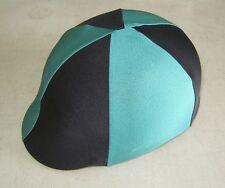 Horse Helmet Cover ALL AUSTRALIAN MADE Dark green & Black Any size you need