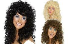 adulto Boogie Bambino Parrucca anni '60 70 80 Cher Costume NUOVO, da donna