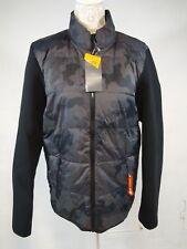 New CHAMPION Black Camo Men's Hybrid Fleece Jacket Coat Size M L
