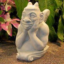 """Cast Stone Cement 13"""" Notre Dame Gargoyle Outdoor Garden Statue"""